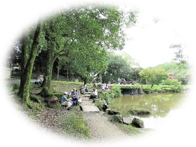 鷺池食事風景