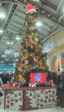 2020上野駅クリスマスツリー