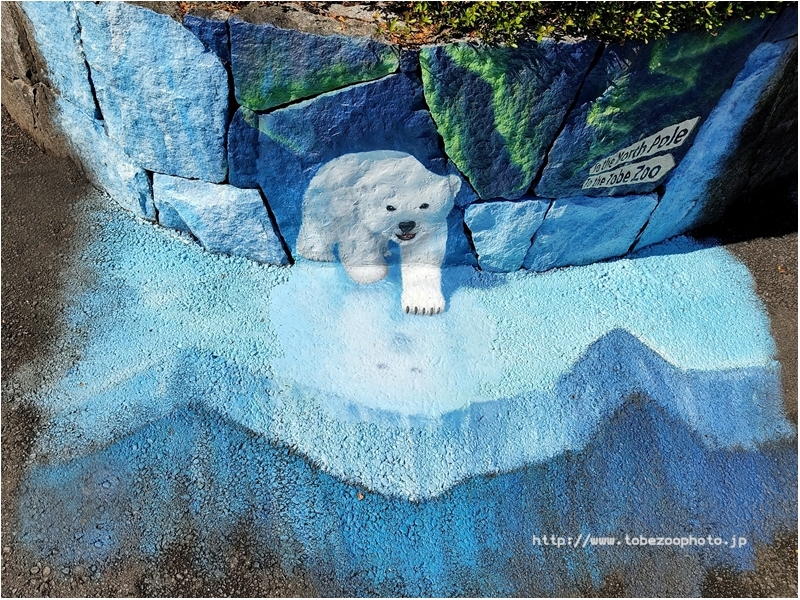 「シロクマ」 3Dアート動物園がオープン