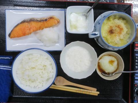 「焼き鮭定食」①