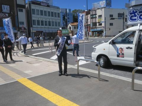 「石岡市長選挙 ささき敏夫」出発式⑧_R