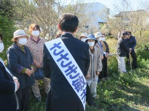 「石岡市長選挙 ささき敏夫」出発式⑰_R