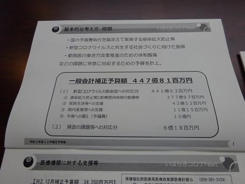 「予算内示会・政務調査会」⑤