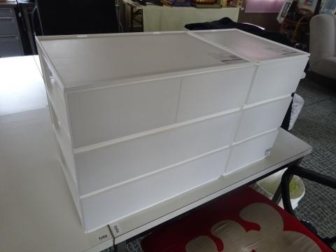 「カラーボックスに収納ボックスを設置してみました!」③