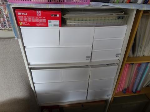 「カラーボックスに収納ボックスを設置してみました!」⑤