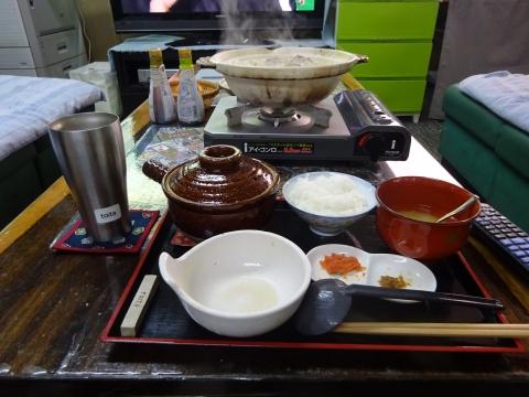 「ごま豆乳鍋つゆで、一人鍋をやってみました!」⑦