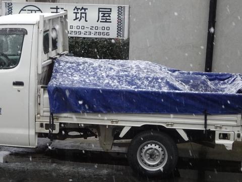 「令和3年1月28日午後2時55分、石岡で雪が降りました!」③