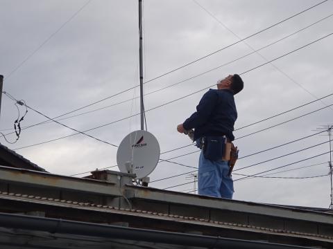 「アンテナ修理と防犯ライトを取り付けてもらいました。」②