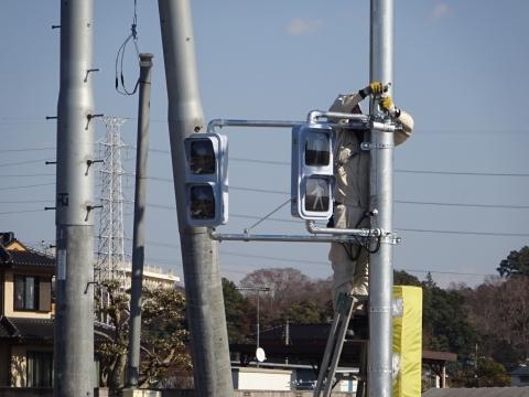 「県道飯岡石岡線、北根本交差点が改良され信号機が付きました!」 (5)