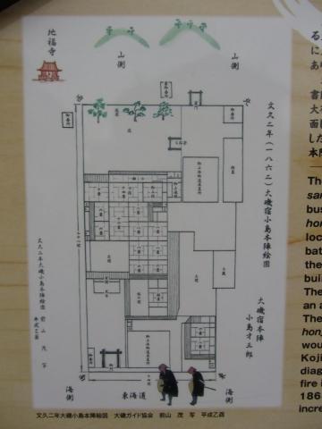 小島本陣絵図