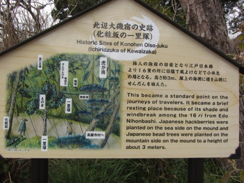 化粧坂の一里塚跡
