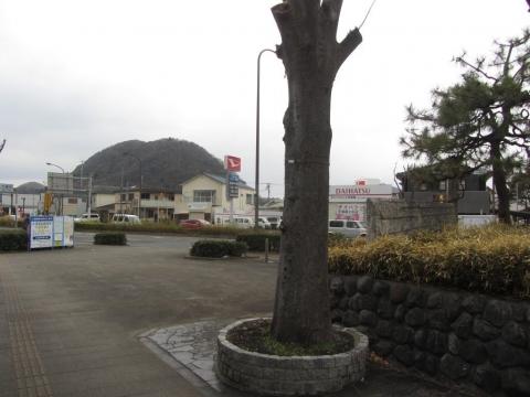 東海道平塚宿碑より高麗山