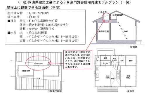 豪雨災害住宅災害モデルプラン 岡山県01