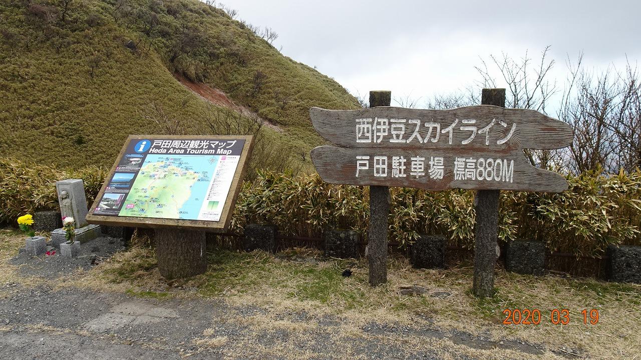達磨山と西伊豆堂ヶ島 (2020年3月)
