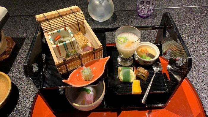 山水館食事 (1)