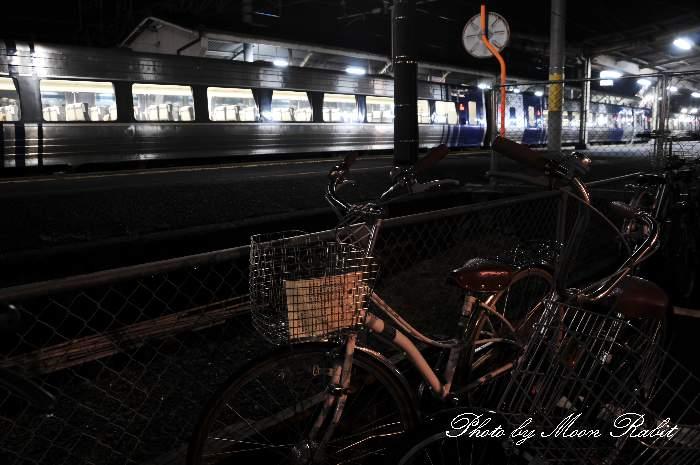 自転車と伊予西条駅 愛媛県西条市大町859-1(西条市福森町)