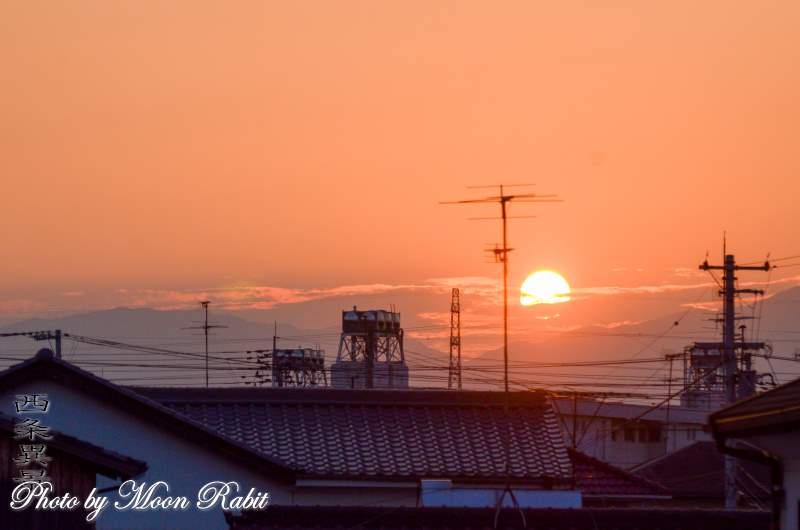 落日 愛媛県西条市神拝
