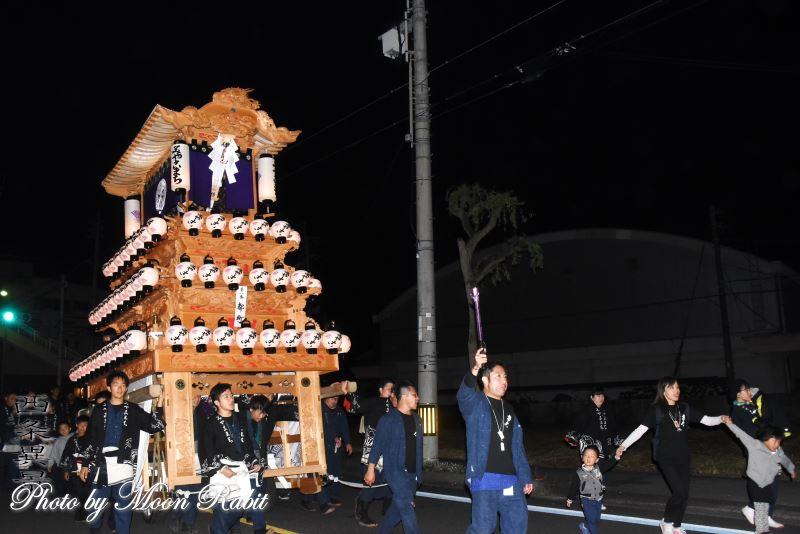 都町だんじり(屋台) その1 神拝後夜祭 伊曽乃神社祭礼 西条祭り2019 愛媛県西条市