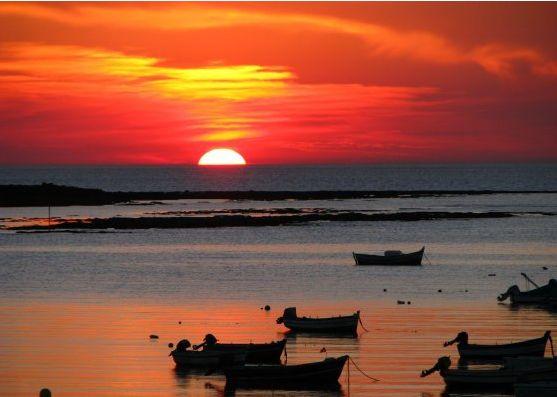 カディスの夕陽