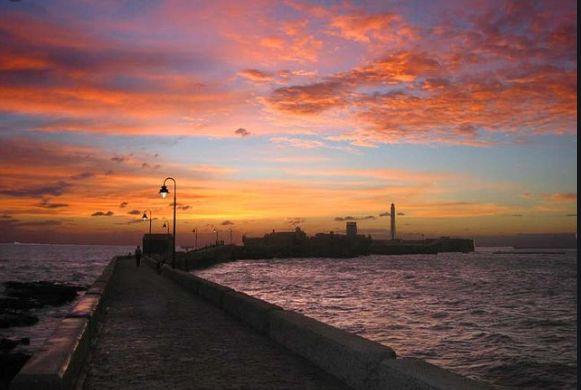 カディスの夕陽1