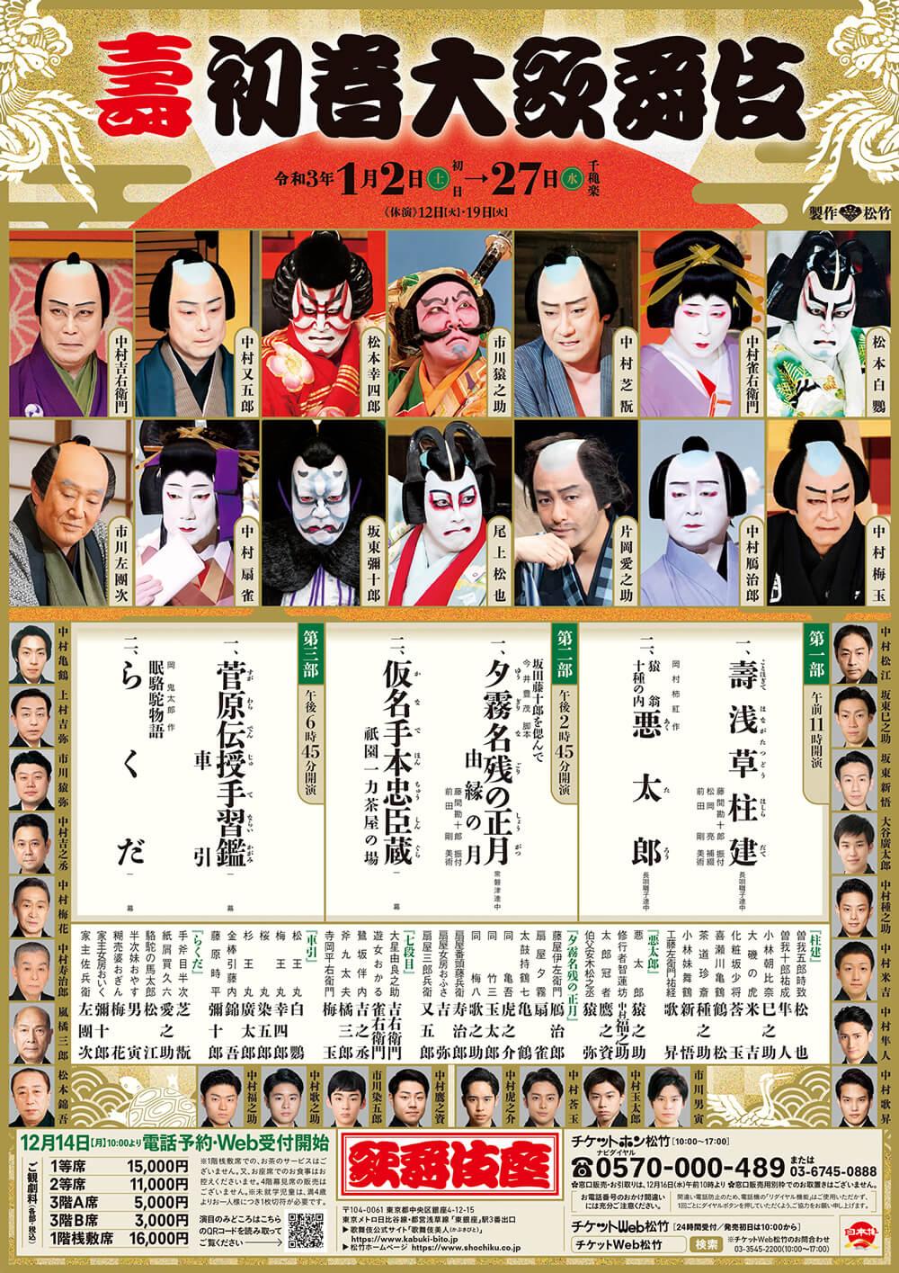 新春歌舞伎ラインナップ