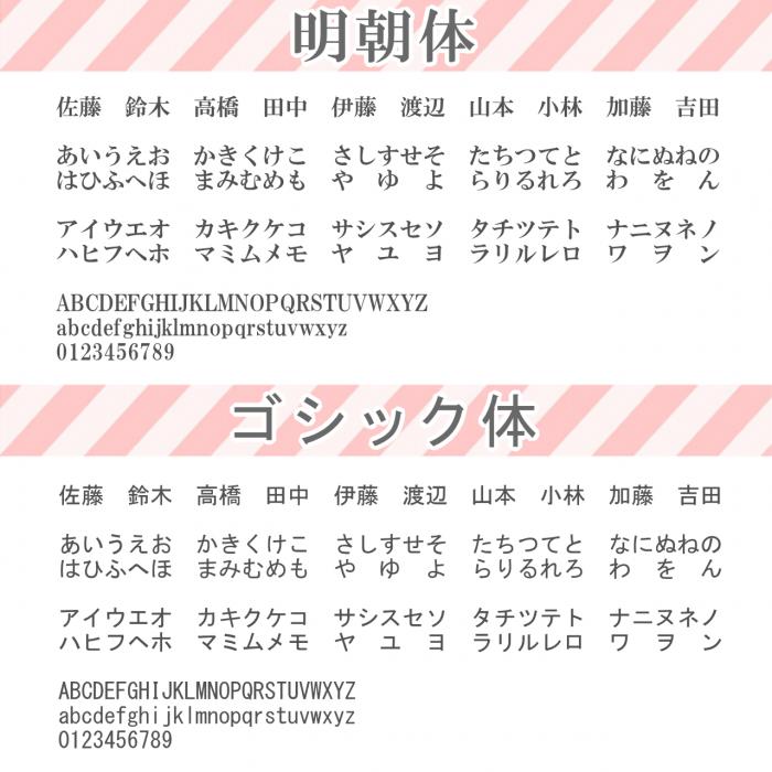 明朝体、ゴシック体(1280)