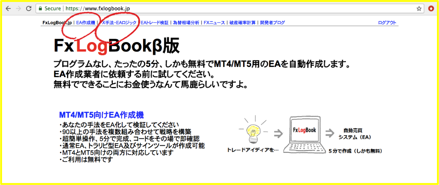ea creator1 FXLogBook